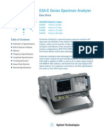 Testequipmentshop.com Agilent Spectrum-Analyzers TES-E4407B Datasheet