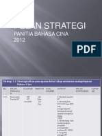 Pelan Strategik Bidang Kurikulum Panitia BC 2012