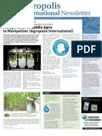Agropolis International Newsletter 12 December 2011