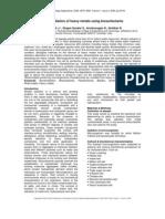 Bio Remediation of Heavy Metals