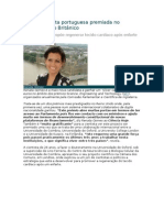 Jovem cientista portuguesa premiada no Parlamento Britânico