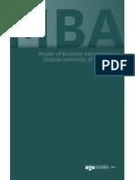 2011 MBA Brochure