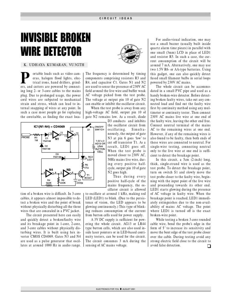 invisible broken wire detector mains electricity (4 4k views)Invisible Broken Wire Detector #13