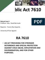 Republic Act 7610 Francis