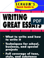 Schaum's Quick Guide to Writing Great Essays -- 119