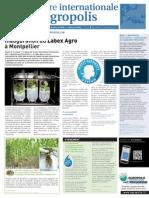 Lettre internationale d'Agropolis numéro 12 - décembre 2011