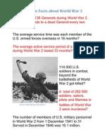 Random Facts About World War 2
