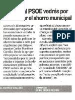 VE120129-Criticas PSOE Cuestionar Aforro