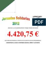 Cartel Agradecimiento 2012