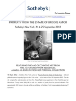 Property from the Estate of Brooke Astor - Legendary Society Figure - at Sotheby's New York