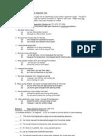 Sample English Grammar Diagnostic Test