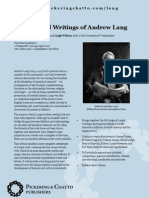 The Selected Writings of Andrew Lang Colour Leaflet
