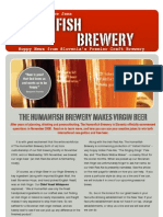 Humanfish Brewery Newsletter 1