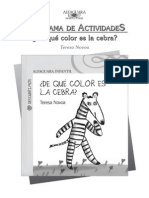 De que color es la cebra?