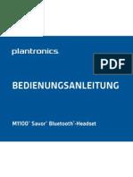 Plantronics M1100 - Bedienungsanleitung
