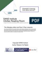 Afterglow Effect Peer 2 Peer Networks 33433