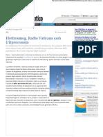 2008 - maggio 14 - Punto Informatico - Elettrosmog, Radio Vaticana sarà (ri)processata