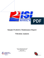 Sample Vibration Analysis Report