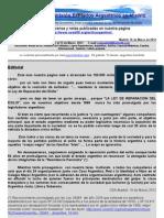 Boletín Nº 21 de la Comision Exiliados Aargentinos en Madrid. Más información en nuestra Web