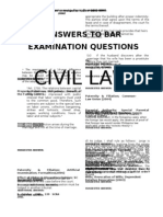 Answers to Bar (CIVIL)
