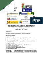II Congreso Nacional de Derecho. Programa Definitivo
