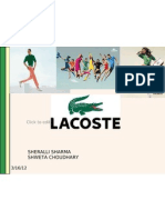 Lacoste Ppt