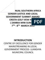 Third Gender Justice Summit Luanshya Local Govt Council, Zambia