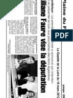 Article La Gazette de La Loire Du 16 Mars 2012