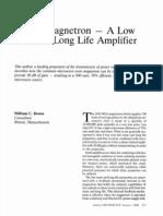 Magnetron Amplifier