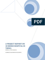 A Project Report on 30 Beded Hospital in Tirwa