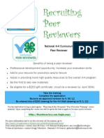 Reviewer Recruitment Flyer