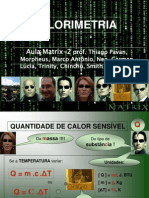 Calorimetria - Matrix
