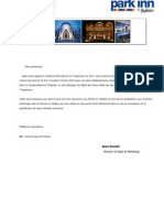 Distinction Trip Advisor - Radisson Blu & Park Inn Ulysse - Djerba 2012