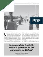 LOs usos de la tradicion musical quechua en las canciones de Uchpa, Ulises Juan Zevallos Aguilar