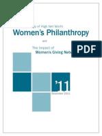 Study HNW Womens Philanthropy