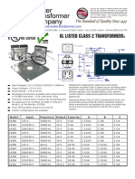 UL Listed Class 2 Transformers