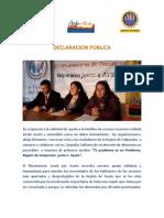 """COMUNICADO CAMPAÑA SOLIDARIA """"Tu problema es mi Problema, Región de Valparaíso con Aysén"""""""
