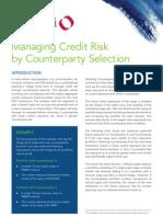 Quantifi Whitepaper - Managing Credit Risk by Counter Party Selection_Quantifi