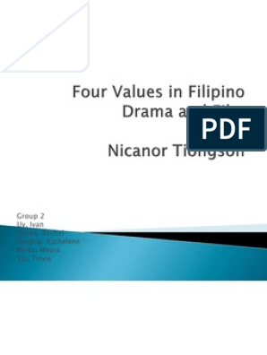 four values in filipino drama and film tagalog