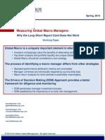 Measuring Global Macro Managers