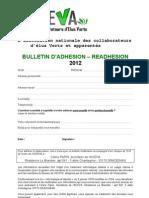 bulletin d'adhésion 2012