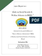 Social Security Schemes in BHEL