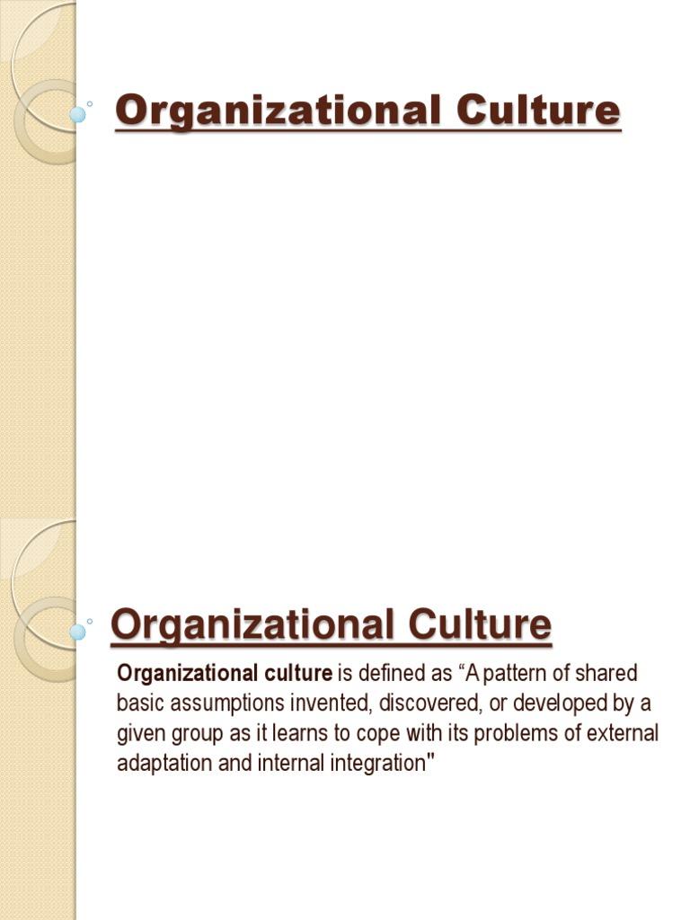 organizational culture | organizational culture | applied psychology