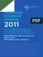 Billing Rate INKINDO (2011) Untuk Penyusunan Jasa Konsultasi