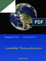 Mgt 1 Leadership 29Jan 11am