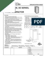 Broan Elite XE Compactor Spec Sheet