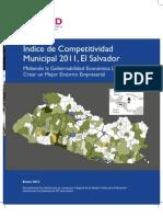 Índice de Competitividad Municipal El Salvador 2011