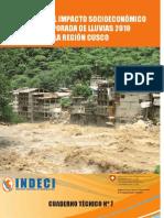Evaluación del Impacto socio-economico de a temporada de lluvias 2010 en la región Cusco / Perú