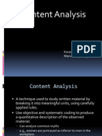Content Analysis Ppt