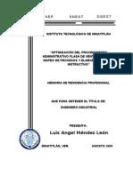 Optimizacion de Procedimientos Por Mapeo de Procesos
